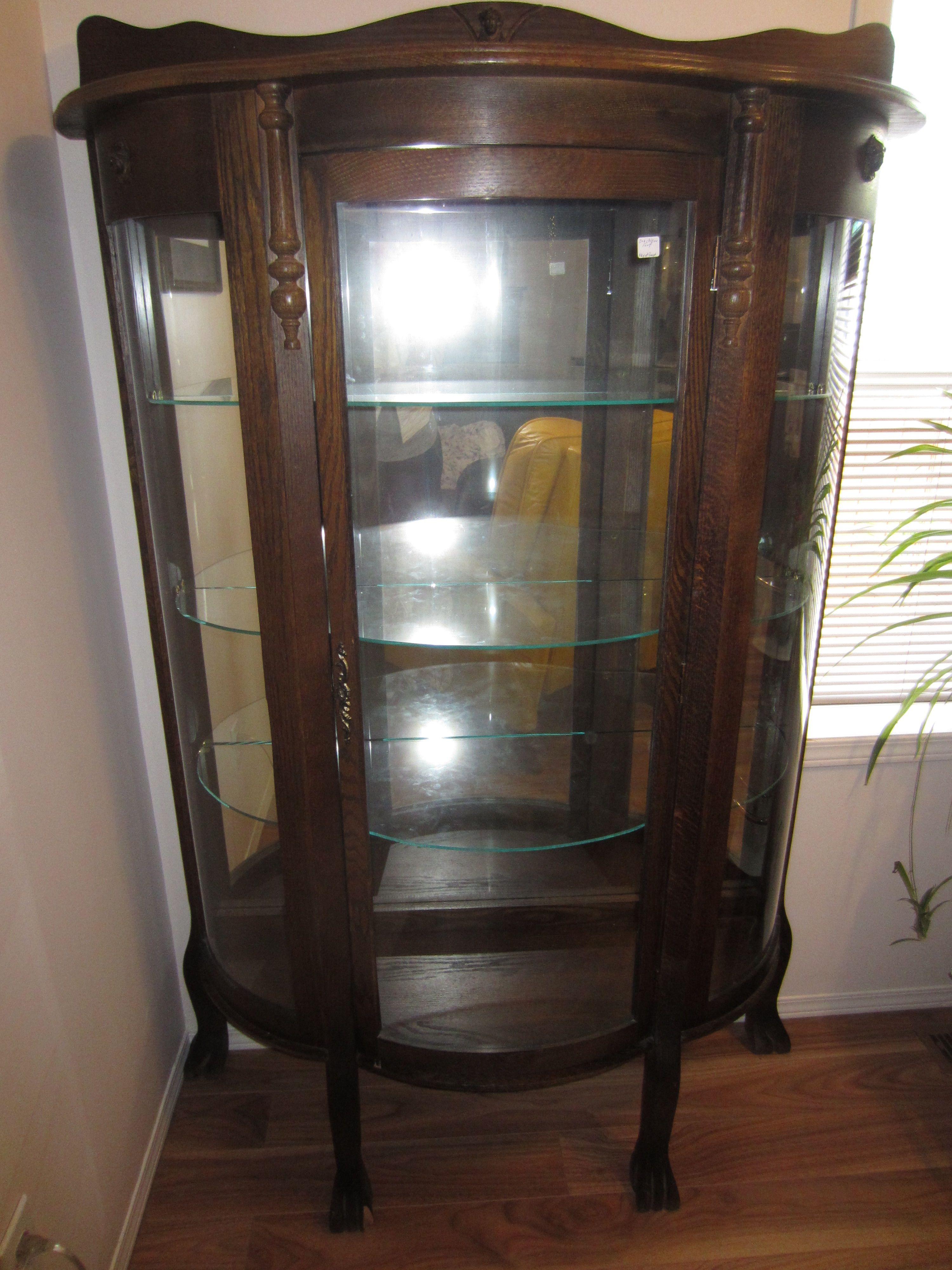lovely old walnut china cabinet | Old Fashion China Cabinets ...