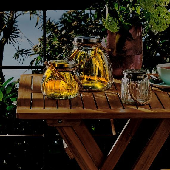 Solarleuchten-Set, 2-tlg Jar #solar #solarpanel #solarleuchte - solarleuchten garten antik