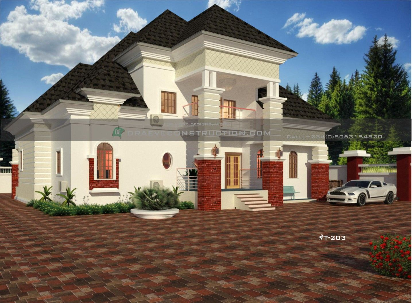 5 Bedroom Bungalow With Penthouse In Nigeria Architect Design House Building House Plans Designs House Plan Gallery