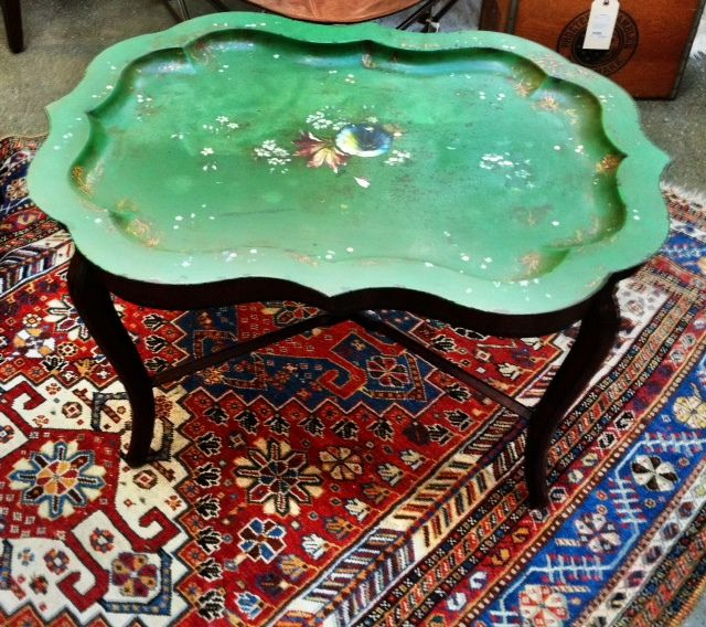 """19"""" x 24"""" x 31"""" Asian Chinoiserie Tray Top Table $405 @ Leftovers"""