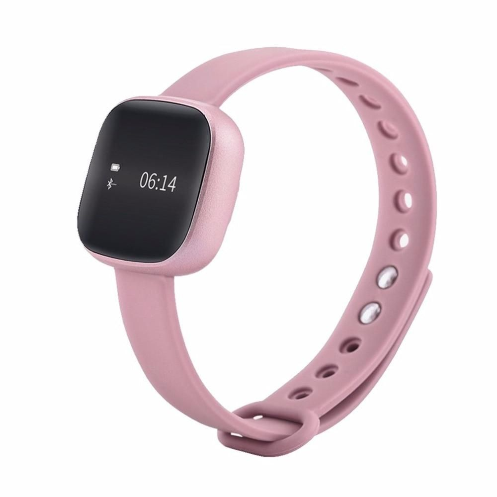 Pink Waterproof IP67 Smartwatch For Ios Android Phone