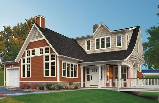 Vinyl Siding Styles, Colors and Exterior Home Designs from Exterior ...