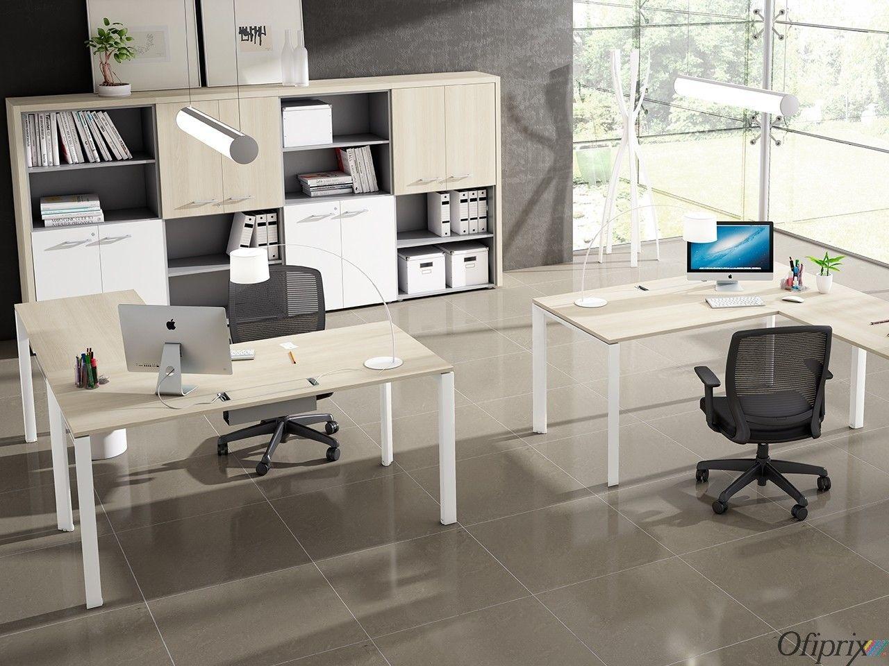 Mesas de oficina modernas serie link en 2019 mesas de - Mesas de despacho modernas ...