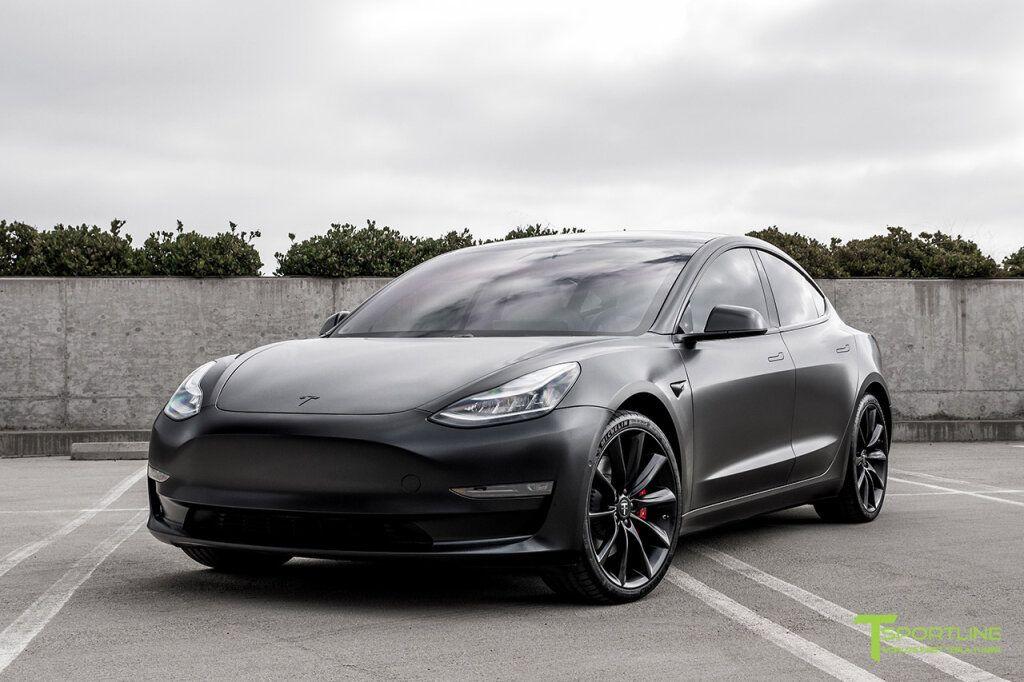 All Satin Black Performance Model 3 With 20 Tst In 2021 Tesla Car Models Tesla Model Tesla