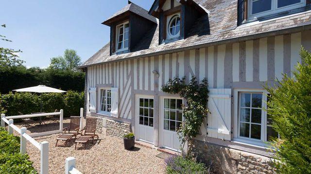 Normandie  maison normande typique, déco bord de mer
