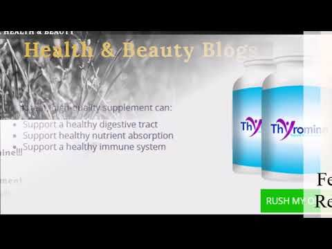 Thyromine Health Supplement Reviews Free Bottle Offer