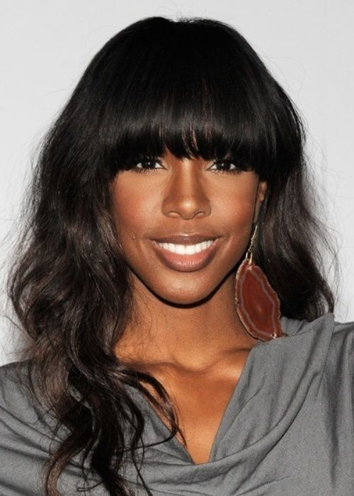 32 chic black weave hairstyles blunt bangs black weave 32 chic black weave hairstyles pmusecretfo Image collections