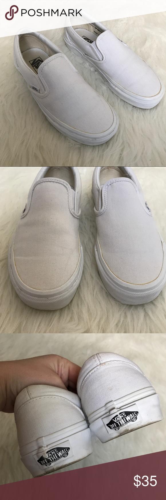 Vans Classic White Slip On Sneakers