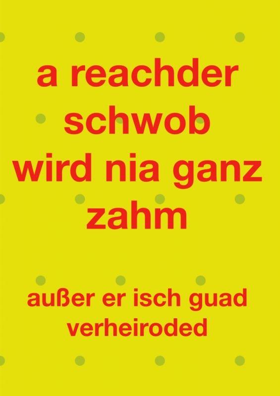 Doppelkarte A Reachder Schwob Wird Nia Ganz Zahm