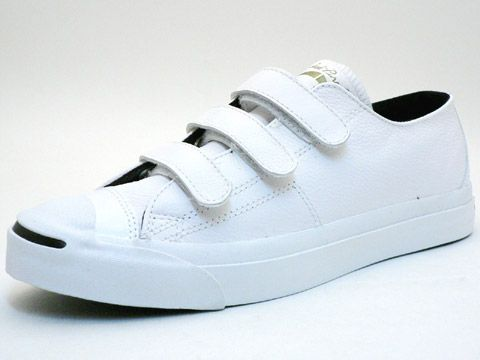 97ccee87063635 JP Velcro white Converse Jack Purcell