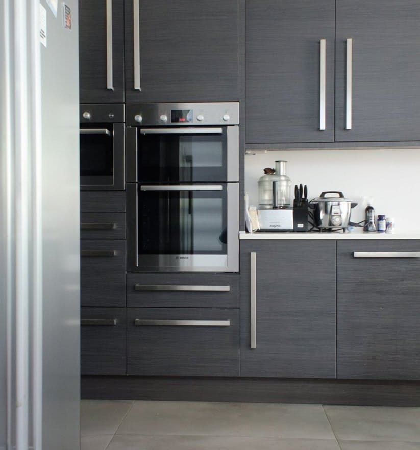 How Much Does It Cost To Install A Wall Oven Wall Oven Modern Ovens Grey Cabinets