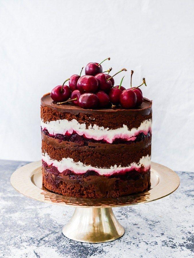 Black Forest Naked Cake | What Charlotte Baked