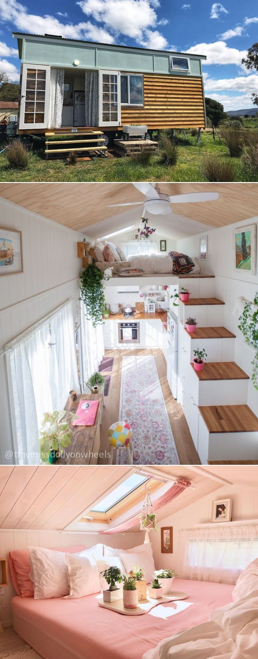 Dolly Rubiano's Tiny House Features Two Lofts and Walk-in Wardrobe