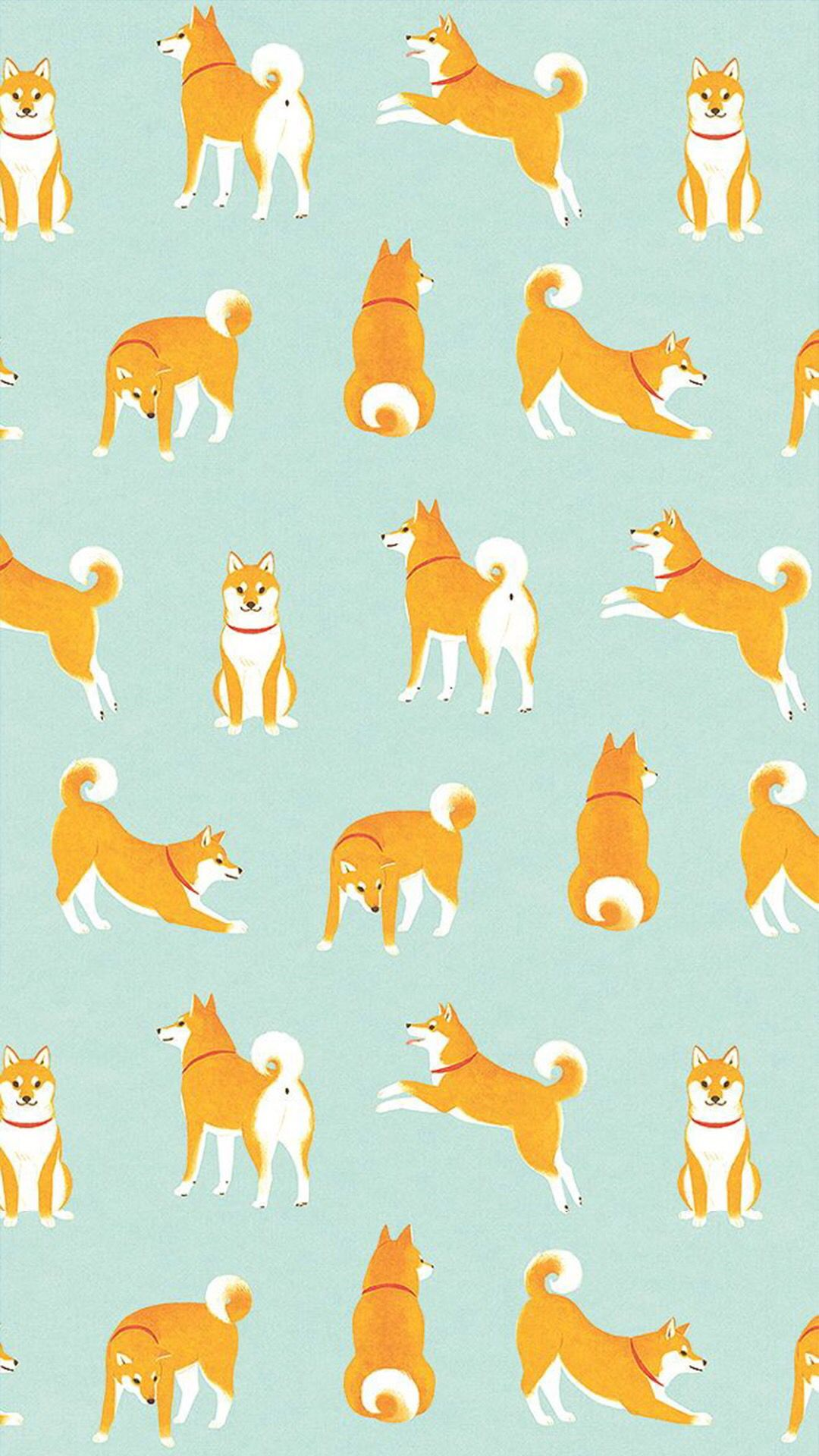 柴犬がいっぱいiphone壁紙 wallpaper backgrounds | cute
