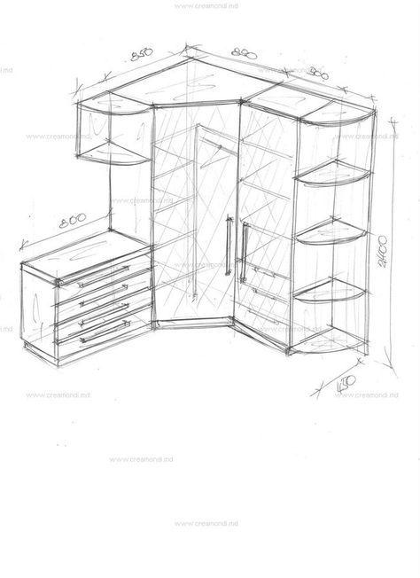 Набор мебели в угол комнаты. в Молдове. Эскизы и чертежи мебели от Creamondi.