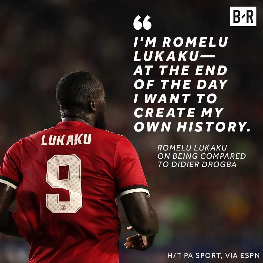Pin By Brent Hanlin On Simply Red Manchester United Football Club Inspirational Sports Quotes Romelu Lukaku