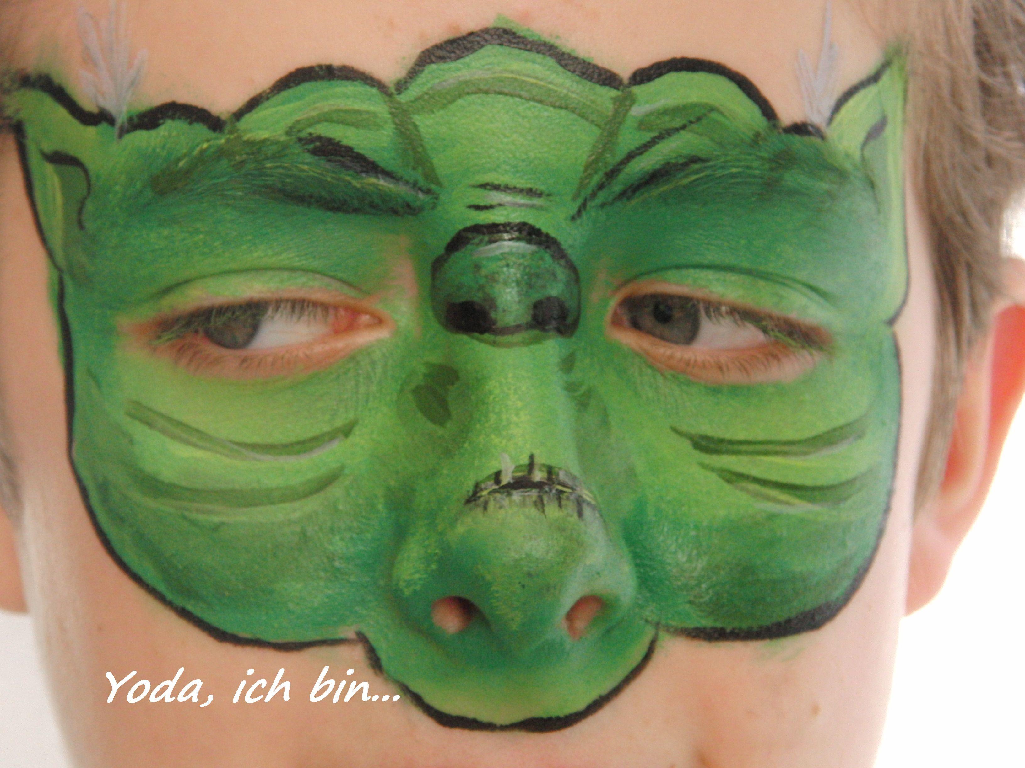 Face painting Star Wars - Yoda   Face Painting - Kinderschminken ...