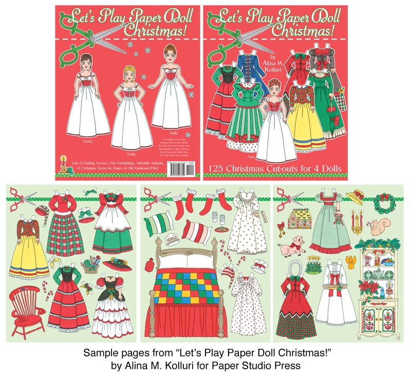 Letu0027s Play Paper Doll Christmas!