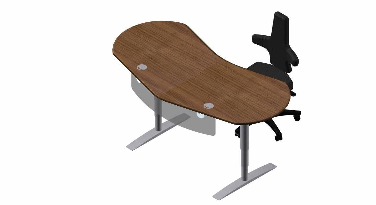 Steh Sitz Schreibtisch Joker Diamond in Furnier Original