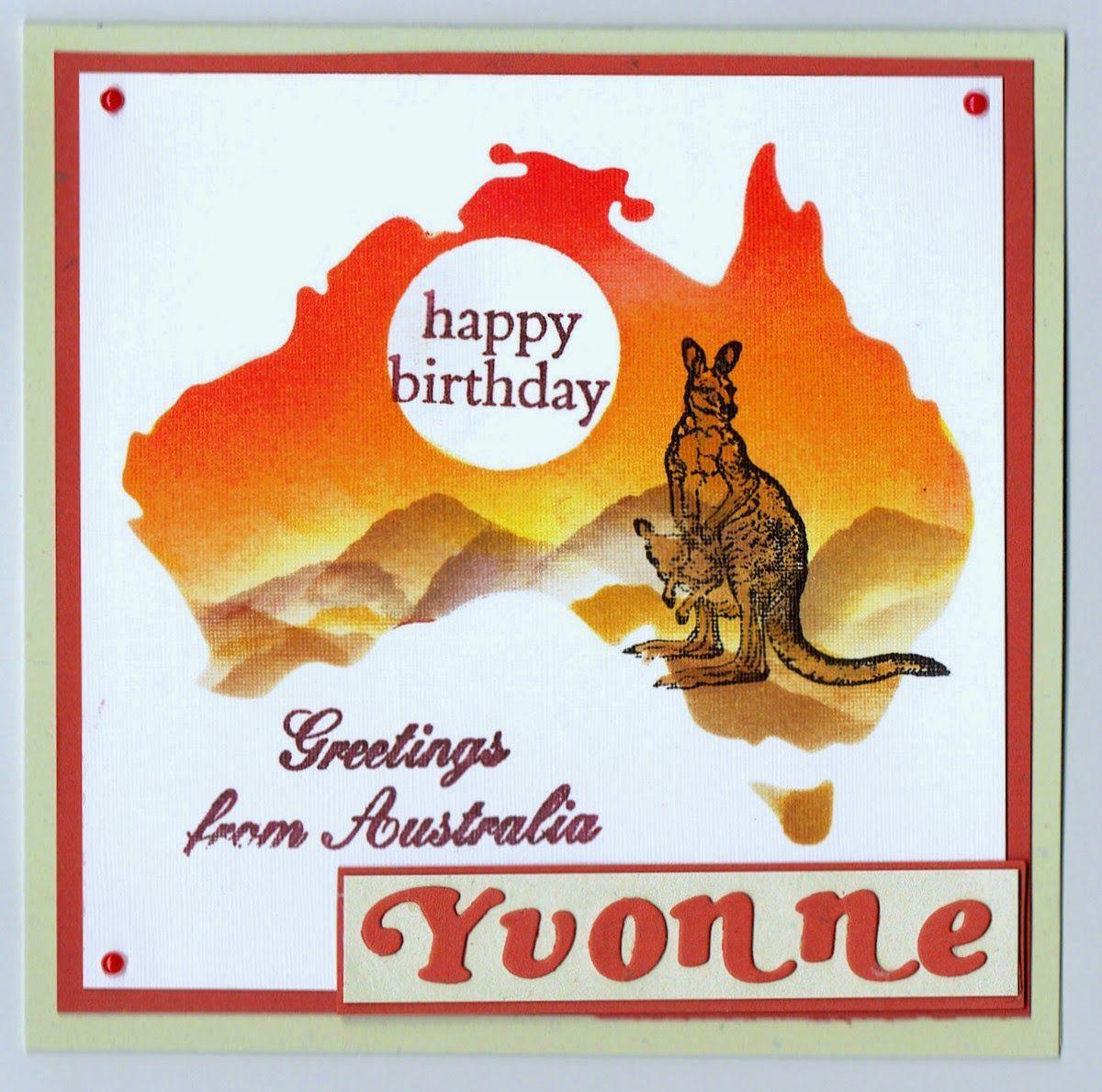 Card Australia Birthday In 2021 Australian Christmas Cards Birthday Cards Birthday Card Online