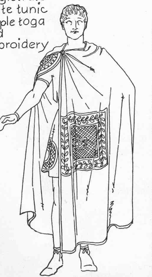 romans latins greeks clothing