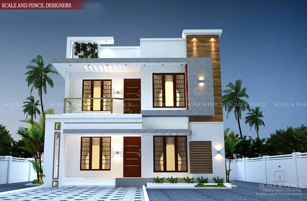 Residential Design In Kochi New Home Designs In Ernakulam Kerala In 2020 House Exterior Exterior Design Small House Exteriors