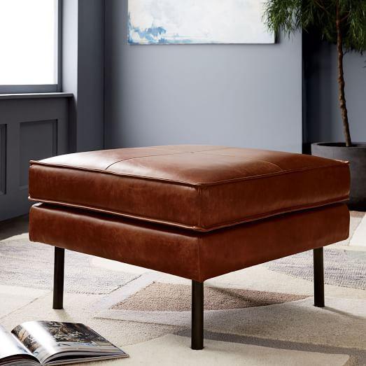 Axel Leather Ottoman