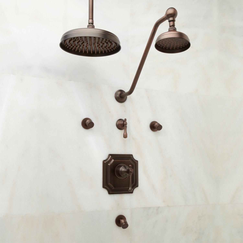 Vintage Shower System 10 Rain Shower Lever Handles Oil