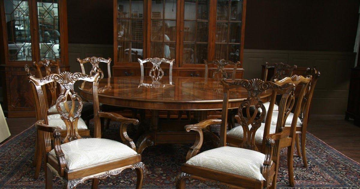 Large Oversized Round Dining Table Large Round Mahogany Dining