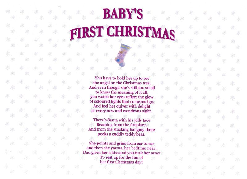 Short Poems For New Baby Babys First Christmas Girl With Images