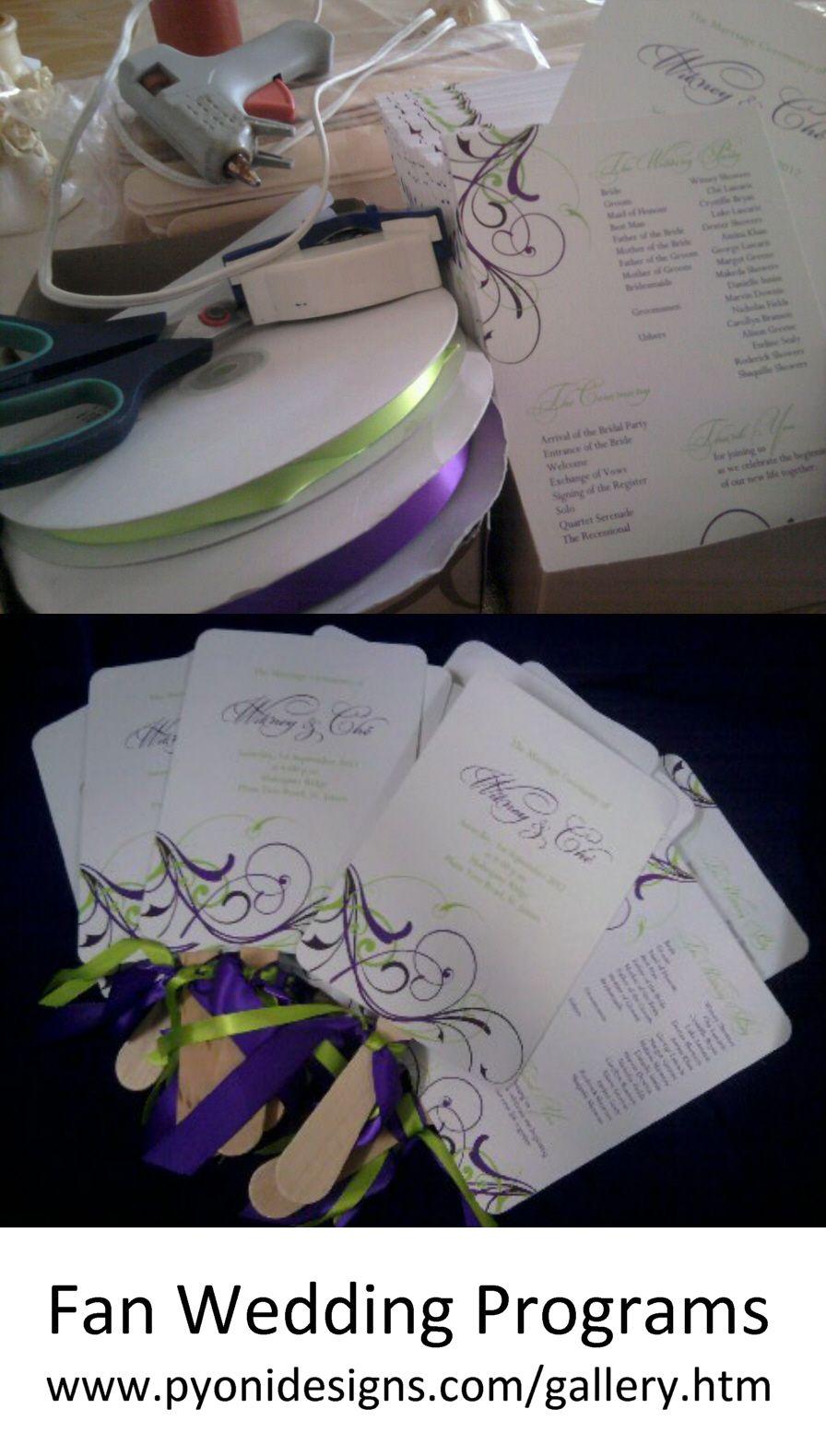 Fan wedding programs diy wedding projects u tutorials pinterest