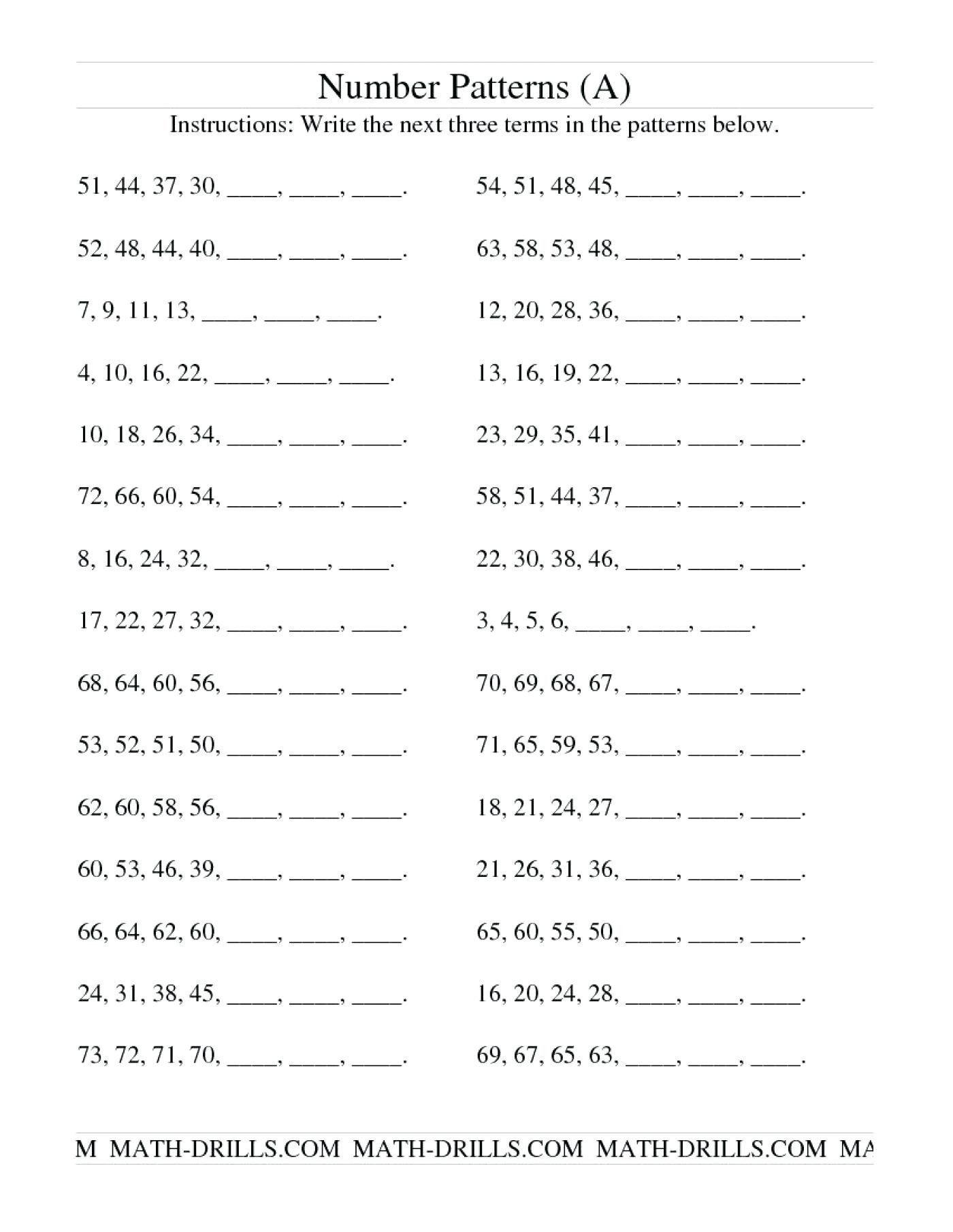 Arithmetic Recursive And Explicit Worksheet