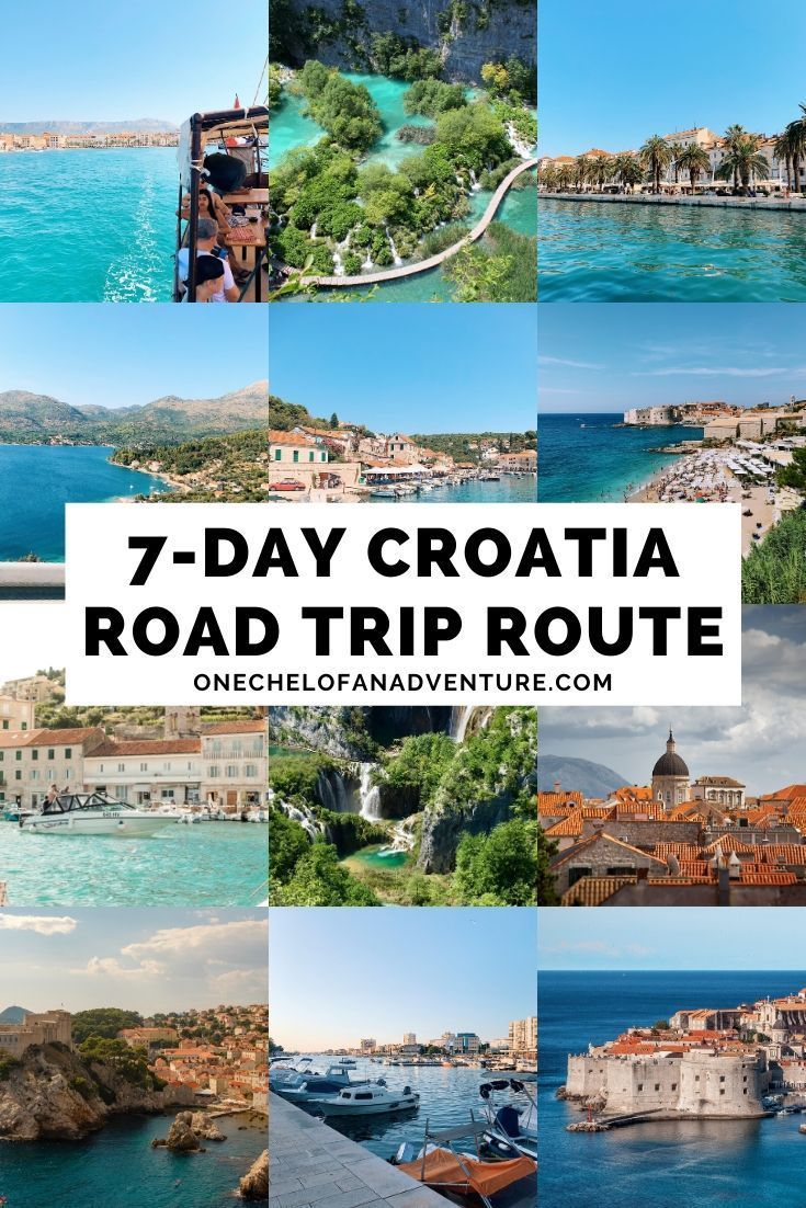 7 Day Croatia Road Trip Itinerary How To Spend One Week In Croatia Road Trip Routes Croatia Travel Croatia Destinations
