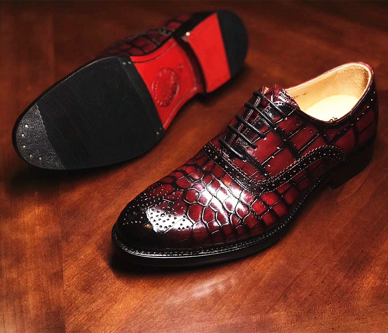 e67494a7996 BRUCEGAO's alligator shoes for sale   shoes in 2019   Shoes, Dress ...