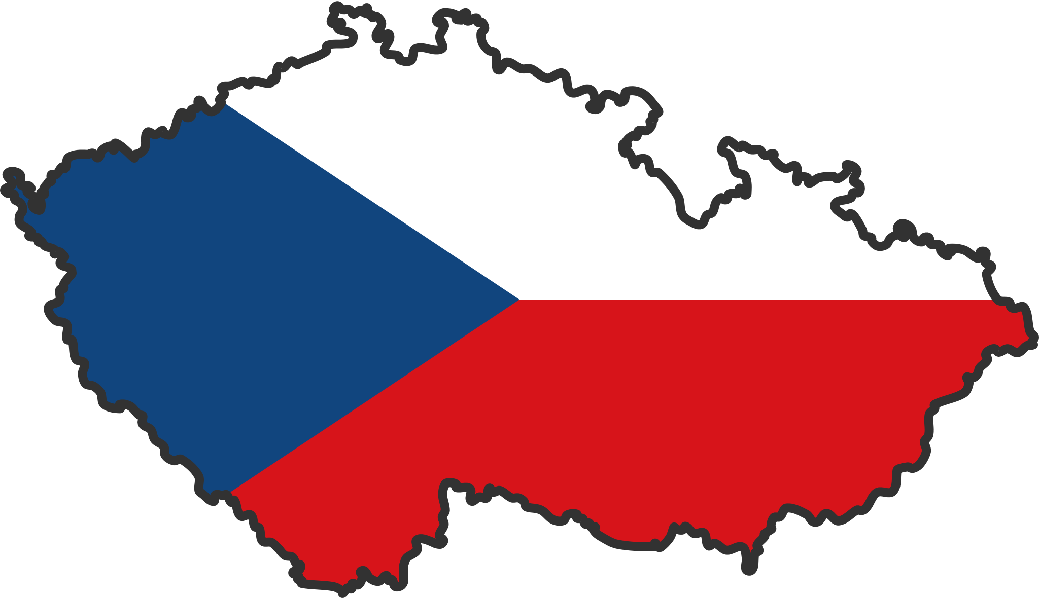 Czech Republic flag map Czech Republic Pinterest