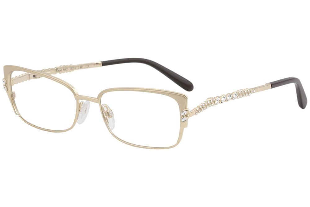 1702161c76 Diva Women s Eyeglasses 5482 883 Matte Shiny Gold Full Rim Optical Frame  52mm