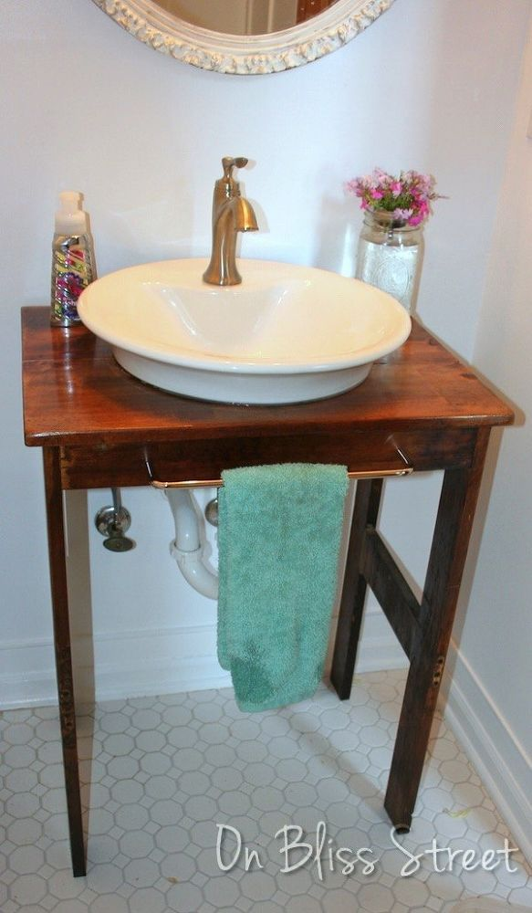 How To Make A Bathroom Vanity From A Single Board Floating Shelves Diy Vanity Bathroom