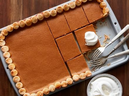 Best thanksgiving dessert recipes food network sheet pan get pumpkin pie in a sheet pan recipe from cooking channel forumfinder Choice Image