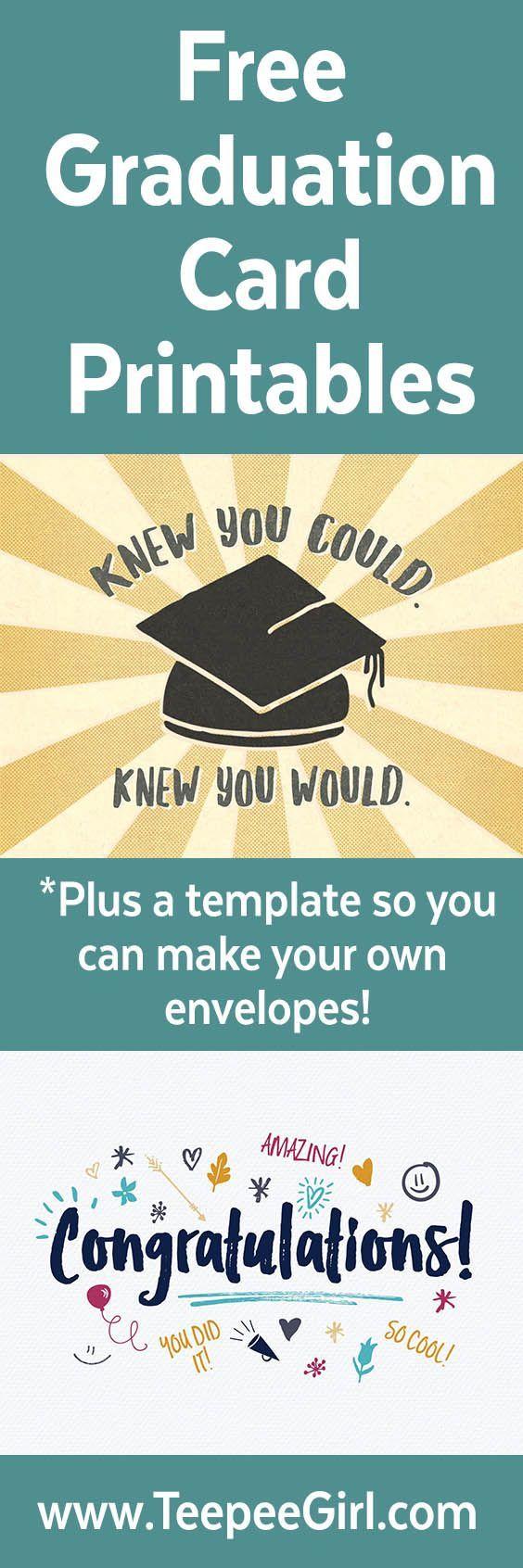 free graduation cards plus envelope template  graduation