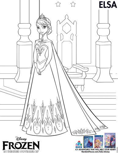 Disney Frozen Printable Coloring Page
