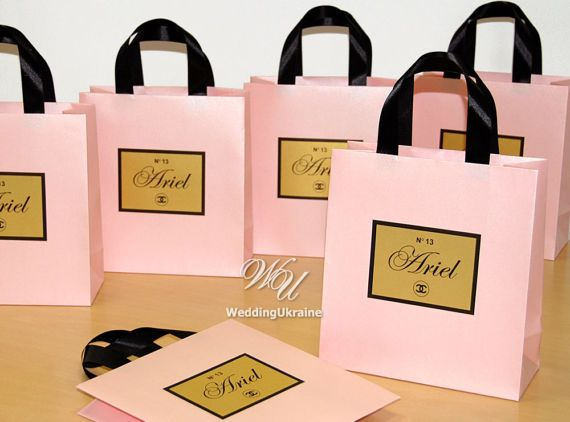 Chanel Theme Birthday Gift Bags With Black Satin By WeddingUkraine 60