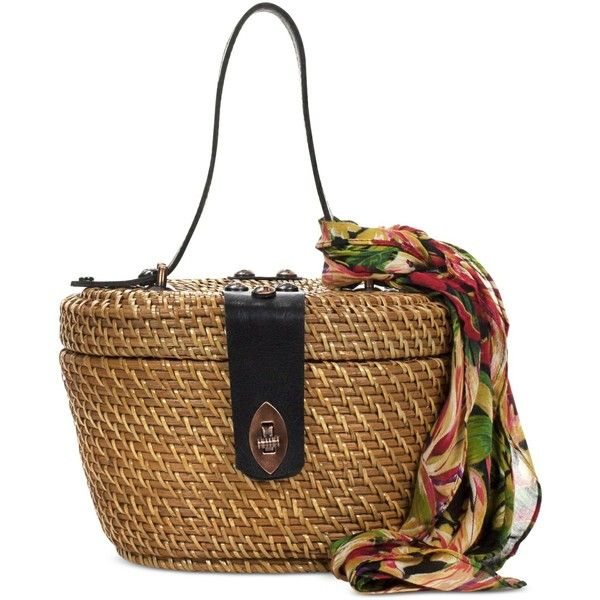 b1f85a481 Patricia Nash Caselle Small Basket Bag ($149) ❤ liked on Polyvore featuring  bags, handbags, cuban tropical black, leather purses, patricia nash bags,  ...