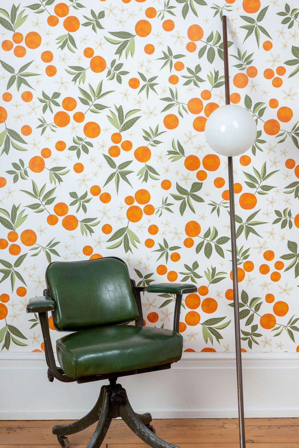 Kate Golding Orange Blossom wallpaper // Modern