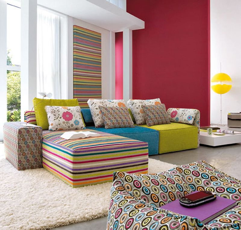 bright colored couches superb colorful living room design for bright colored room - Bright Color Bedroom Ideas