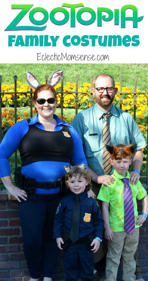 Disney ZOOTOPIA Costumes | Group halloween, Halloween costumes and ...