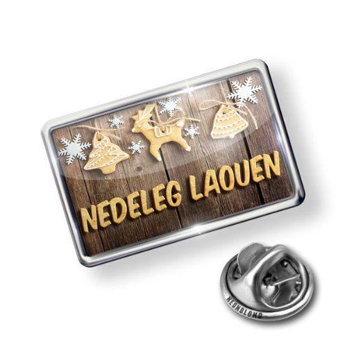 Pin Merry Christmas In Breton From Brittany France Lapel Badge