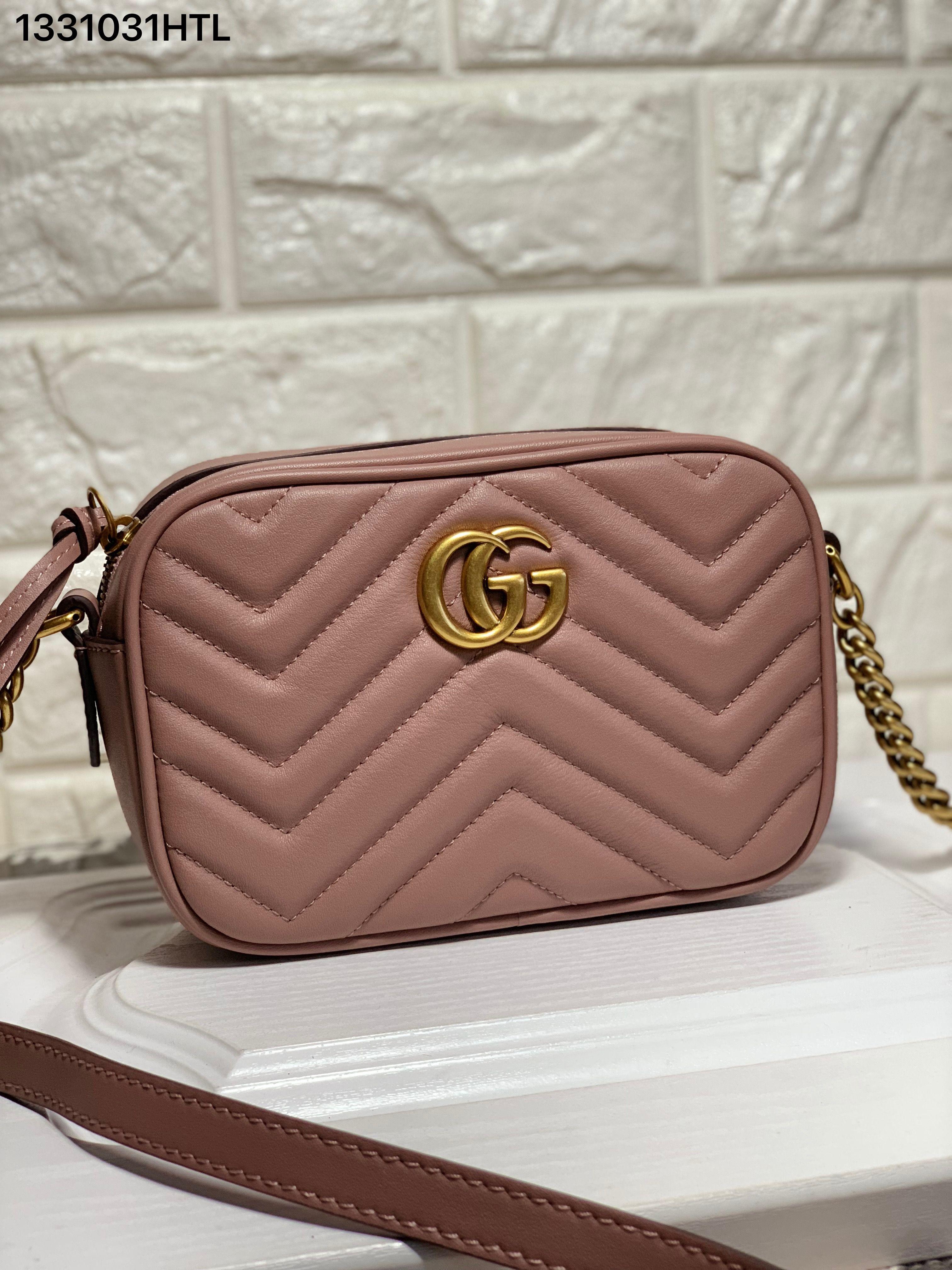 8fea8ada30c7 Gucci marmont mini 18cm pink   Gucci bags in 2019   Gucci marmont ...