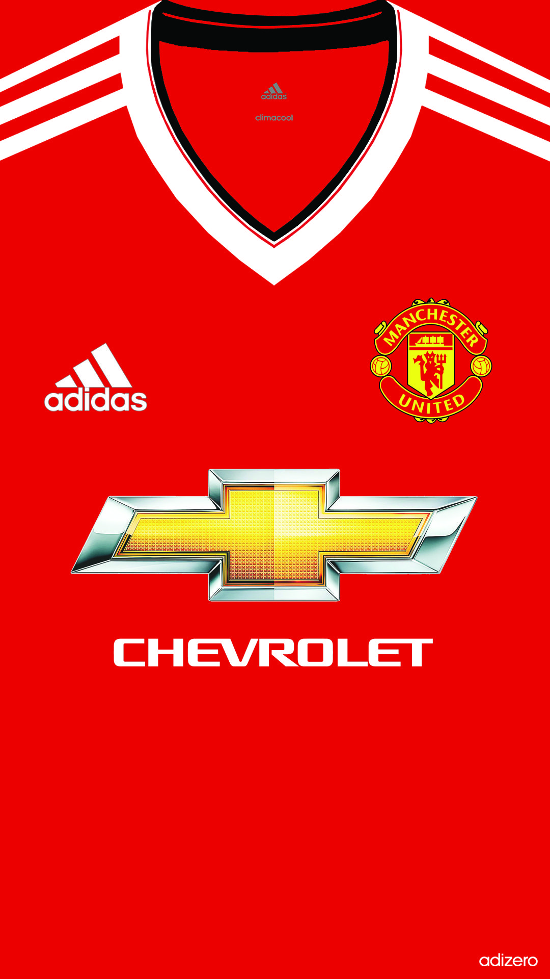 manchester united home kit 201516 iphone 5 5s 6 wallpaper