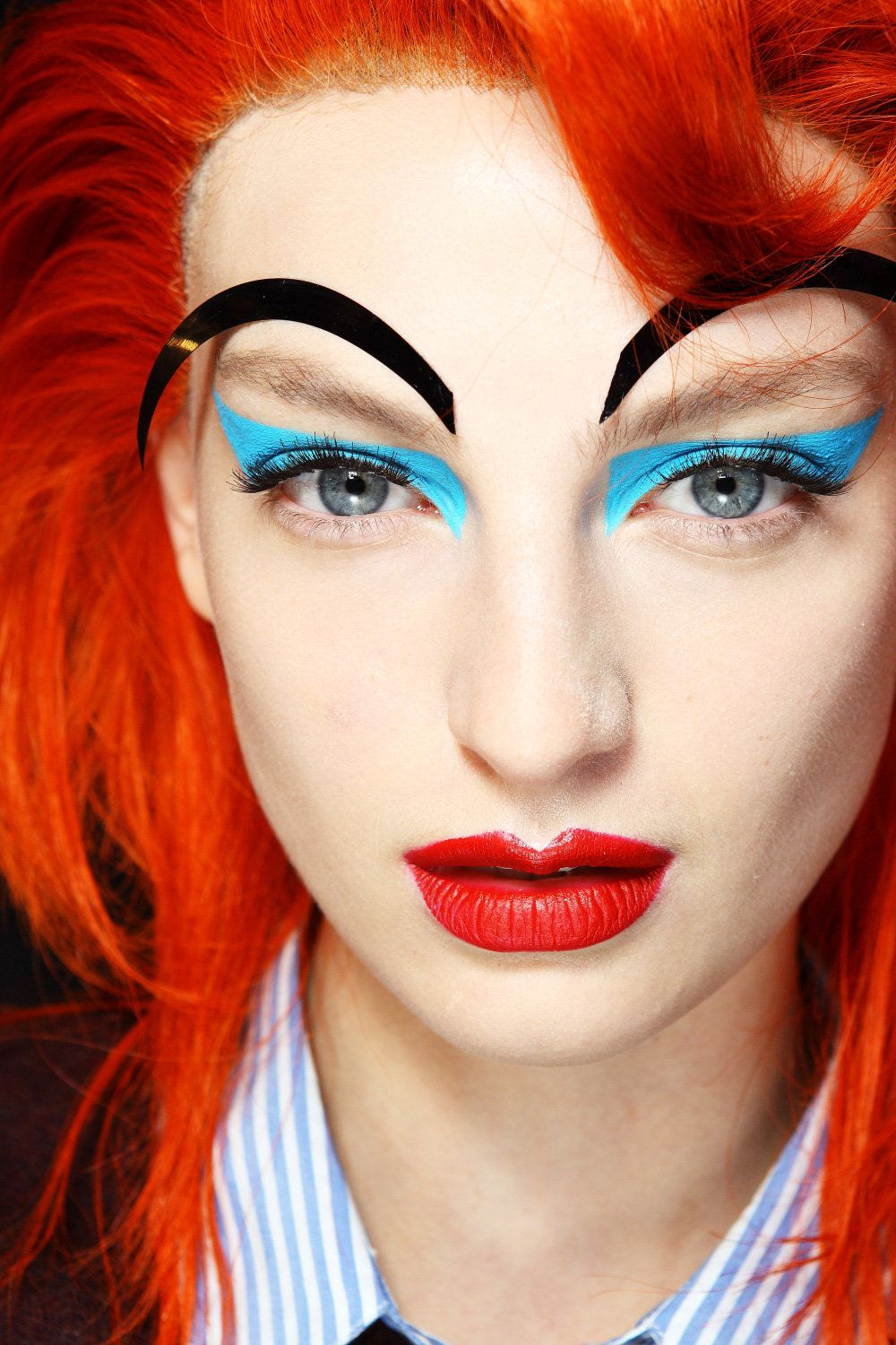 Comic Book beauty at Australian Fashion Week. Pic by Sonny Vandevelde