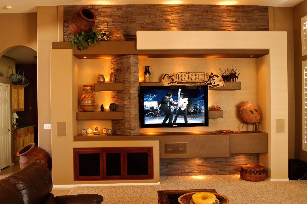 Drywall entertainment units the hype share on i n d o for Drywall designs living room